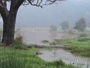The main dam after heavy rain