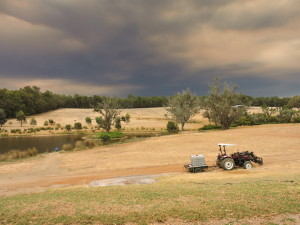 Smoke darkened sky from the Waroona/Yarloop bushfire